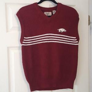 Vesi Sportswear Arkansas Razorbacks Sweater Vest M